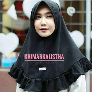 jilbab khimar daysha hitam instan