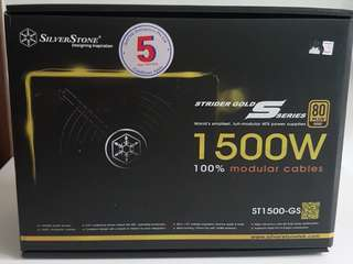 1500W SilverStone Power Supply -Gold 80 PLUS