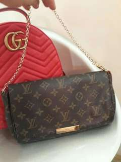 Louis Vuitton sling with code