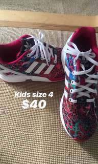Kids size Adidas shoes