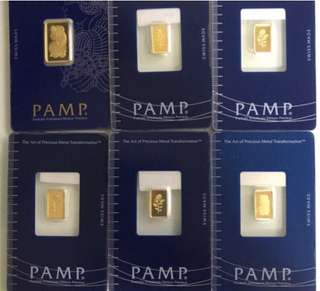 PAMP - 1 gram gold bar (real 999 gold series) ✅