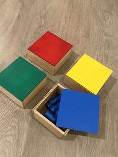 Montessori knobless cylinder set