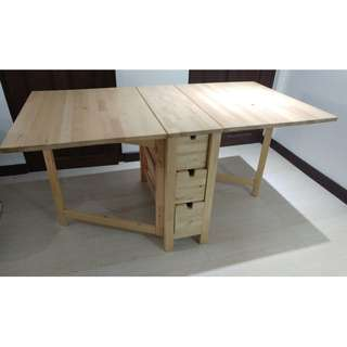 Taixin Wooden Folding Table - Natural
