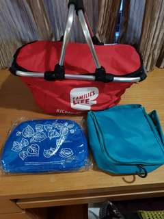 Picnic bag and sports water bottle  with free 2 multi purpose pouch
