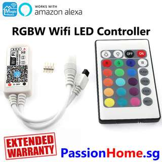 Magic Home RGBW Wifi LED Controller + Remote for LED Strip