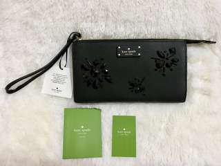Kate Spade Ciara Groove Street Wallet Embellished Black WLRU3215 Pursue Bags