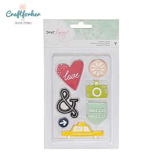 🚚 ♥EMBELLISHMENTS♥ RUBBER STAMPS DEAR LIZZY SATURDAY 7PCS