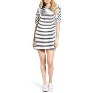 🌼00010- Stripe Casual Hoodie Dress🌼