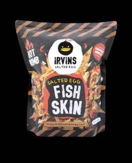 Irvins 咸蛋黃魚皮辣味 香港未有得賣