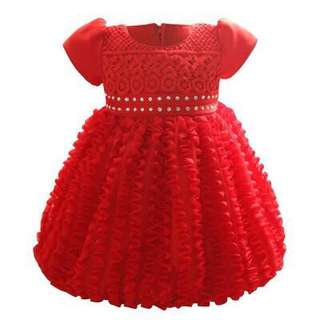 Free Shipping Promotion-15-25 Days Shipping Time for Newborn Baby Girl Colourfull Crochet Tulle Princess Dress