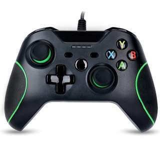 1341. Game controller for Xbox one Wired Gamepad Joystick Dual Vibration feedback with 3.5 Audio Jack-WASUNNY (black)