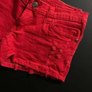 Red Short Jeans