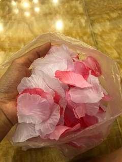 Pink & White Flower Petals / Wedding Props