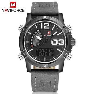 (FREE SHIPPING) NAVIFORCE Multifunctional Dual Display Sport Quartz Digital Watch
