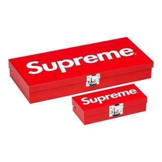 Supreme SS17 Small & Large Metal Storage Box