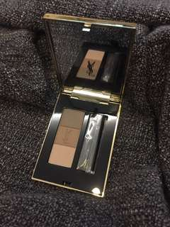 BNIB YSL Couture Brow Palette All in One Eyebrow Kit 3 Colours & Tweezer - light to medium