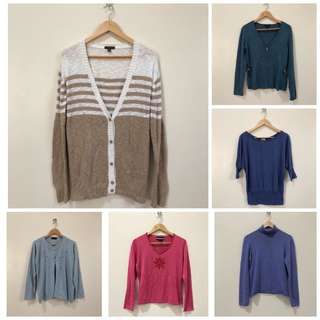KNITTED TOPS AND SWEATERS
