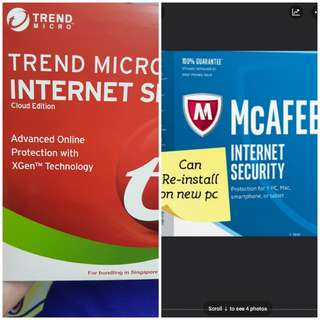 Trend micro antivirus & internet security (Windows or Mac)