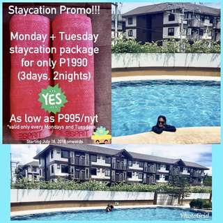 Looking for STAYCATION? P1990 for 3D2N