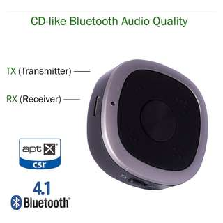 aptX HD Bluetooth Music Transmitter and Receiver 藍芽音頻 2in1發射器 接收器 aptX HD - S06226