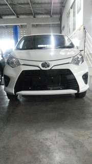 New Toyota Calya Tipe E manual (velg racing) nego