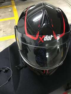 Helmet xdot flip up double visor