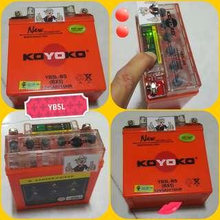 1207**---KOYOKO MOTORBIKE BATTERY*** YAMAHA SPARK, FZ16 Ver 1.0.. etc......
