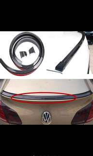Universal Car Rubber Carbon Spoiler