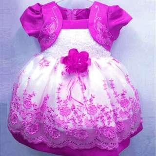 Free Shipping Promotion-15-25 Days Shipping Time for Baby Girls Floral Chiffon Dresses