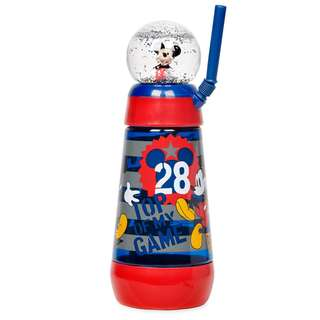 Mickey Minnie Mouse Snowglobe Tumbler with Straw