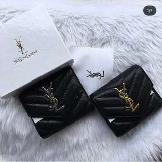 YSL Leather Trifold Wallet
