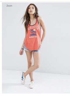 🚚 Red Hollister Tank Top