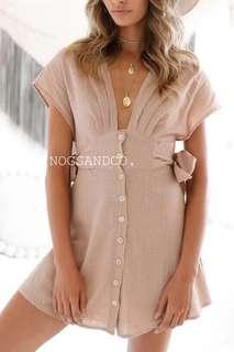 NC1061 Buttons Ribbon Dress