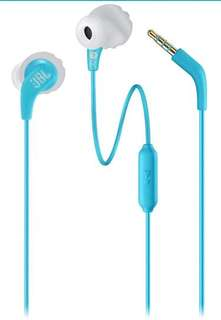 JBL Endurance RUN Sweatproof Sports In-Ear Headphones with One-Button Remote and Microphone (Teal/Red)