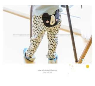 Boy bear bear korean pants