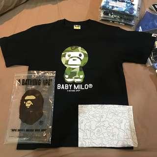 A Bathing Ape (Baby Milo splinter Camo 2018) Tshirt size XL