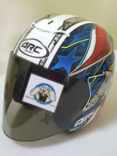 1207*** ARC AR4 Special Edition with tinted visor Helmet For Sale 😁😁Thanks To All My Buyer Support 🐇🐇 Yamaha, Honda, Suzuki