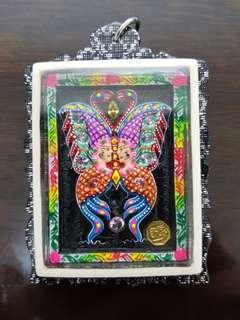 Kruba Krissana Butterfly Amulet Block A nine-tail