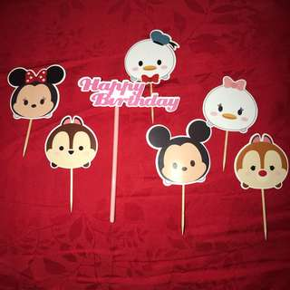 Tsum Tsum Cake Topper Happy Birthday