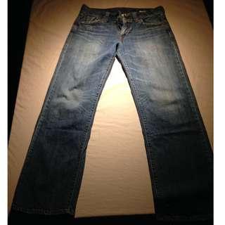 """LEVI'S Premium Straight Leg Jeans 29 x 34/35 ~ Inseam: 31"""" Rise: 10"""""""