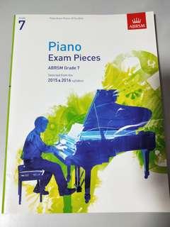 Piano Exam pieces ABRSM grade 7 2015 & 2016 syllabus