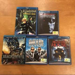 🚚 Assorted Blu Ray DVDs