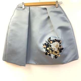 MSGM light blue flower skirt size 40