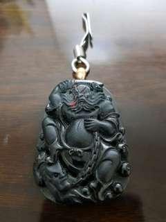 Fine Jadeite Zhong Kui & its Wealth Goblins
