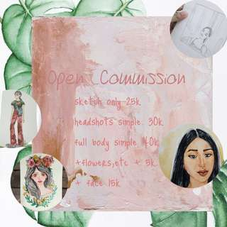 Open commission murah