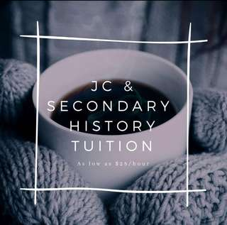 🚚 JC A Levels History Tuition