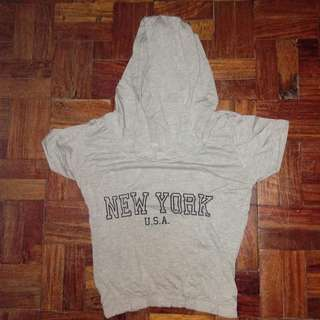 Cropped Hooded New York Shirt