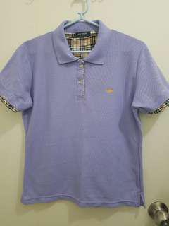 Burberry Lavender Collared Shirt