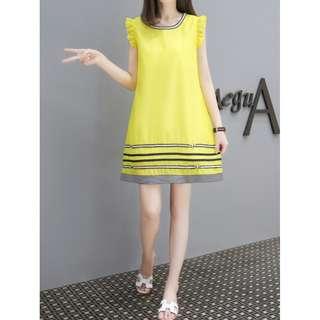P13158 韓版時尚飛袖娃娃連衣裙