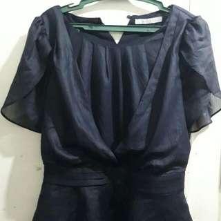 Navy Blue Formal Top